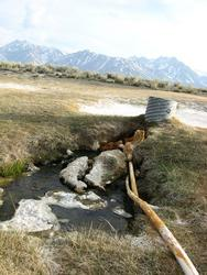 source water and water catching pipe (Alkali Lake)